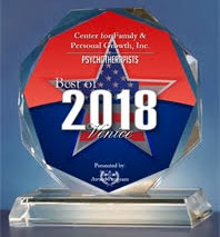 Center for Family & Personal Growth, Inc. Psychotherapists best of 2018 Venice award